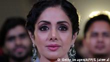 13.01.2018 Indian Bollywood actress Sridevi Kapoor attends the 'Umang Mumbai Police Show 2018' in Mumbai on late January 13, 2018. / AFP PHOTO / Sujit Jaiswal (Photo credit should read SUJIT JAISWAL/AFP/Getty Images)