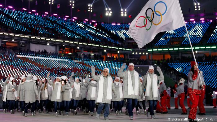 Russian team at Opening ceremony of Pyeongchang Olympics | Team OAR (picture-alliance/dpa/J. C. Hon)
