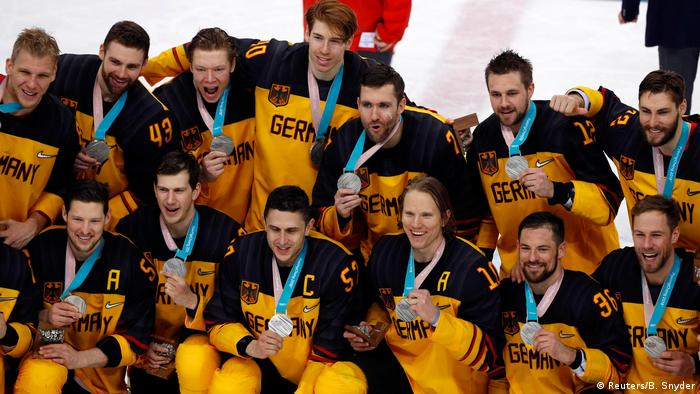 Olympic silver was a landmark moment for German ice hockey (Reuters/B. Snyder)