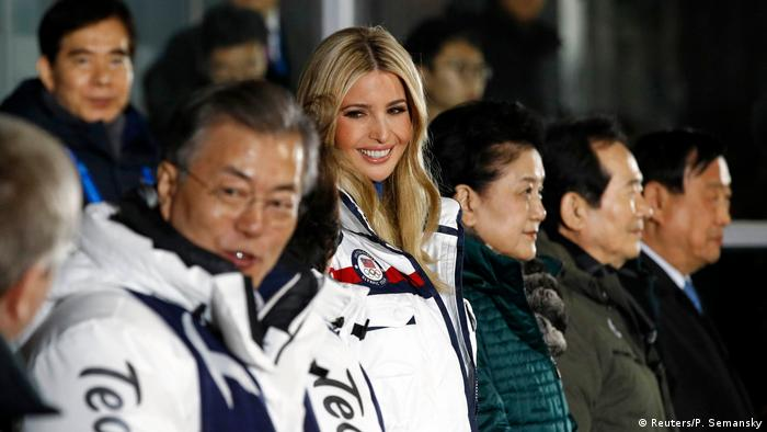 U.S. President Donald Trump's daughter and senior White House adviser, Ivanka Trump, during the closing ceremony