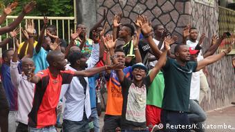 Proteste in Kinshasa Kongo