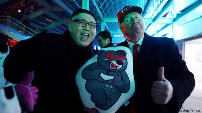 Look-Alike Donald Trump und Kim Jong Un