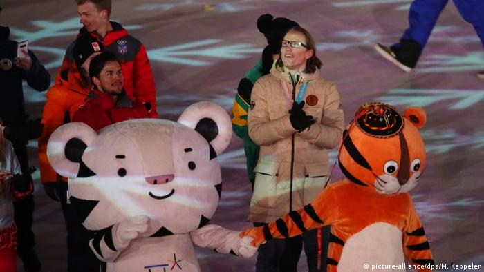 Christian Ehrhoff at the opening ceremonies in Pyeongchang (picture-alliance/dpa/M. Kappeler)