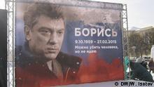 Nemtsov-Gedenkveranstaltungen in Sankt Petersburg