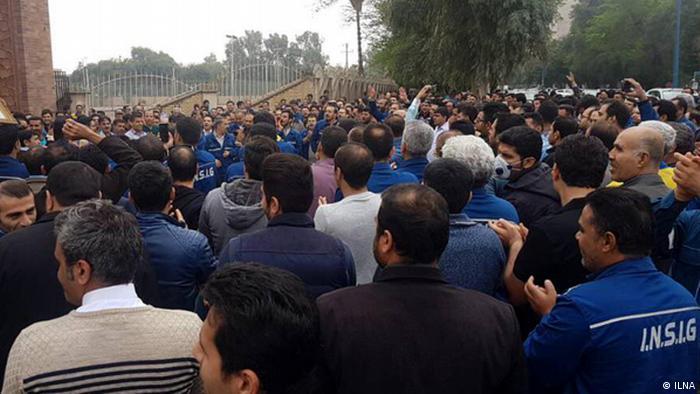 اعتراضات کارگری در اهواز