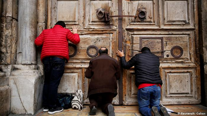 The Church of the Holy Sepulchre has been closed since Sunday in protest. (Reuters/A. Cohen)