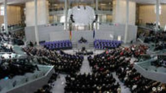 The Federal Assembly meeting in the Reichstag to elect the presdient