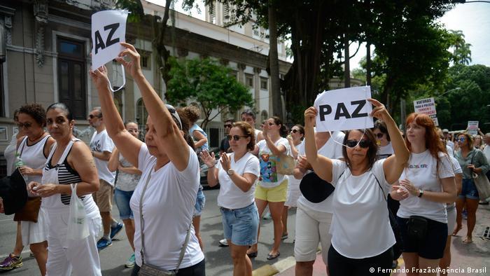 Protest gegen die Gewalt in Rio de Janeiro. 25 Oktober 2018.