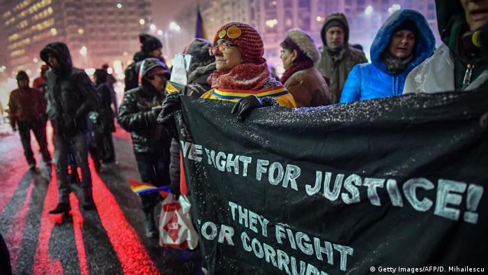 Протестующие в Бухаресте