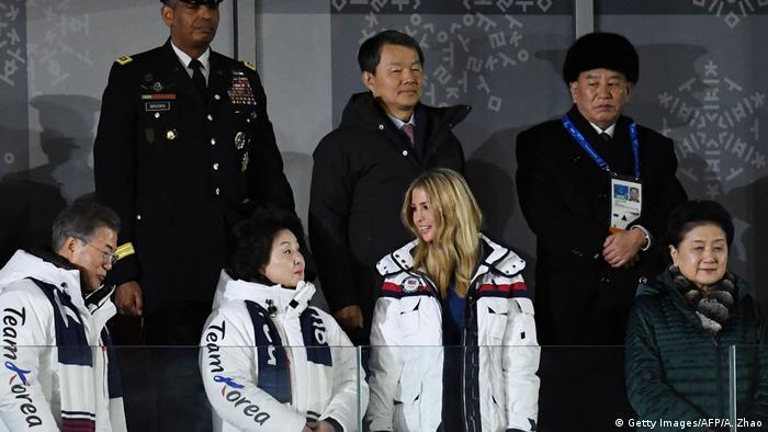 Olympische Winterspiele 2018 in Südkorea   Abschlusszeremonie - Moon Jae-in & Kim Jung-sook & Ivanka Trump & Kim Yong Chol