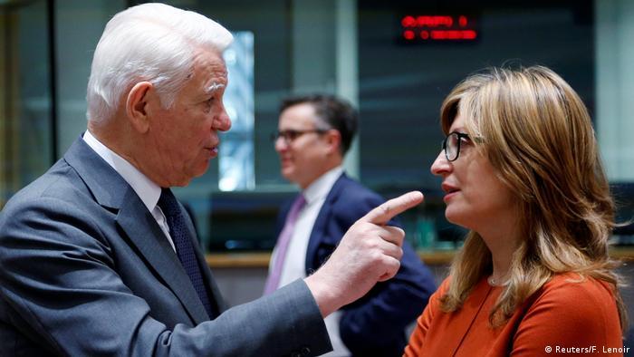 Bruxelles Melescanu Romania & Zaharieva Bulgaria