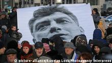 A rally commemorating politician Boris Nemtsov is held on the Lenin Square near Finlyandsky railway station