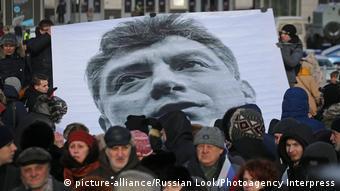 Rusya'da Nemtsov anısına düzenlenen bir yürüyüş