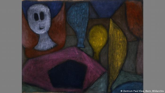 Klee: Untitled (The Angel of Death), abstract ghostly forms (Zentrum Paul Klee, Bern, Bildarchiv)