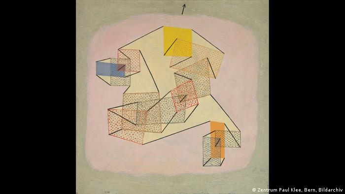 Klee: Squares joined by lines floating around (Zentrum Paul Klee, Bern, Bildarchiv)