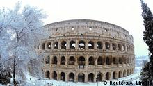 Italien Winter & Schnee in Rom | Kolosseum