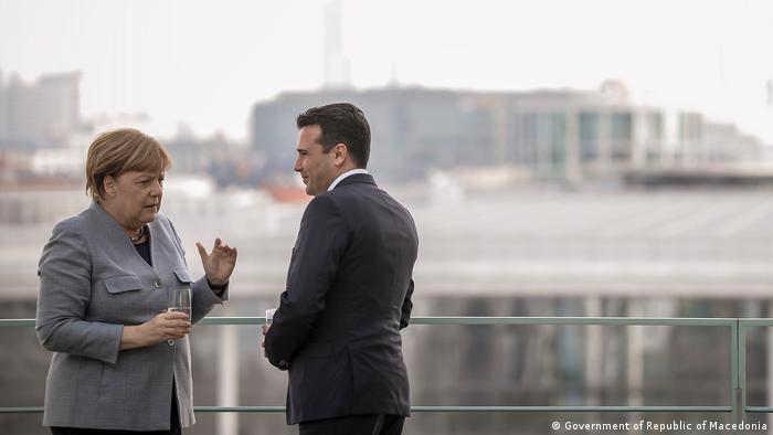 Deutschland Regierungsdelegation aus Mazedonien bei Kanzlerin Merkel