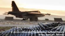 Ammunition waiting to be loaded onto a Russian war plane in Syria (picture-alliance/AP Photo/Russian Defense Ministry Press Service/V. Savitsky)