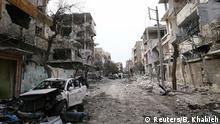 Syrien Damaskus - Ost-Ghuta nach Luftangriffen