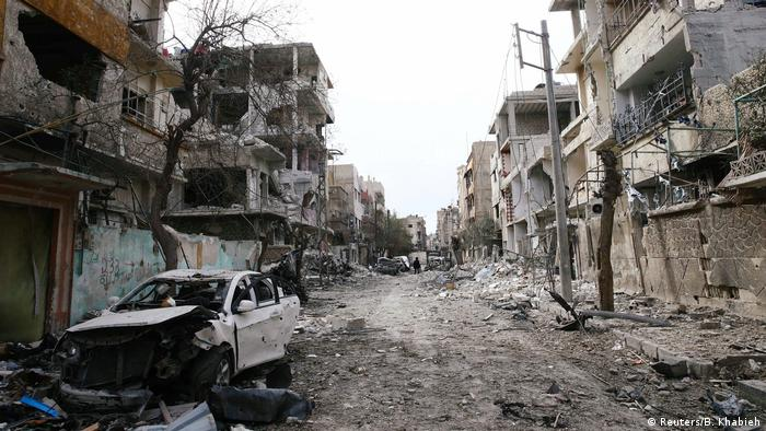Morte e destruição em Ghouta Oriental