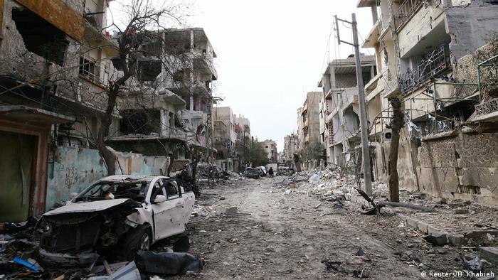 غوطه شرقی پس از حملات هوایی