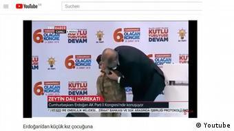 Youtube Recep Tayyip Erdogan mit weinendem Kind