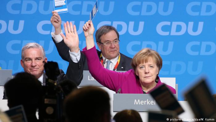 Merkel votes at the CDU party congress