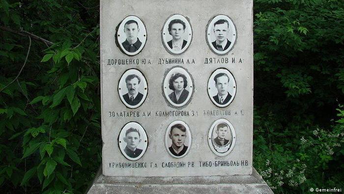 Паметник на деветимата от групата Дятлов
