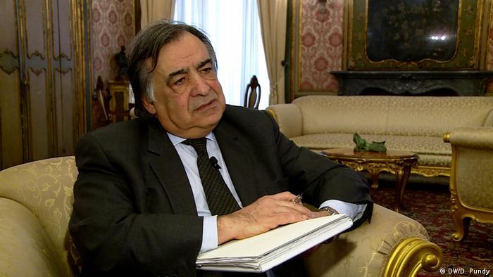 Mayor Leoluca Orlando in his office in Palermo
