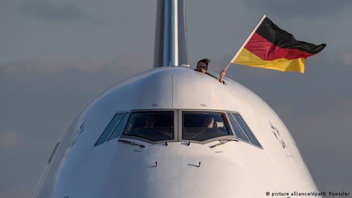 Deutschland Deutsches Olympia-Team in Frankfurt gelandet