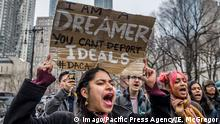 USA New York - Proteste für DACA