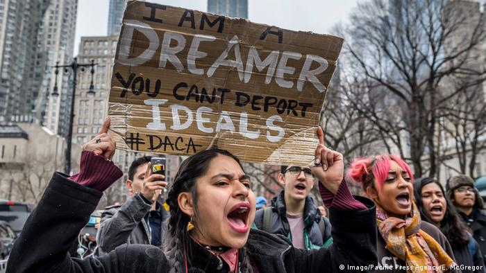 USA New York - Proteste für DACA (Imago/Pacific Press Agency/E. McGregor)