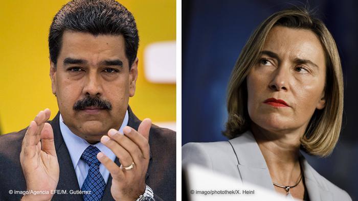 Kombibild Maduro und Mogherini