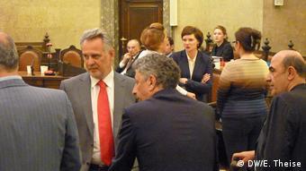 Дмитро Фірташ і екс-міністр енергетики України Юрій Бойко на суді у Відні