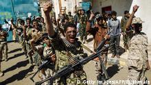 Jemen Bewaffnete Huthi-Rebellen in Sanaa