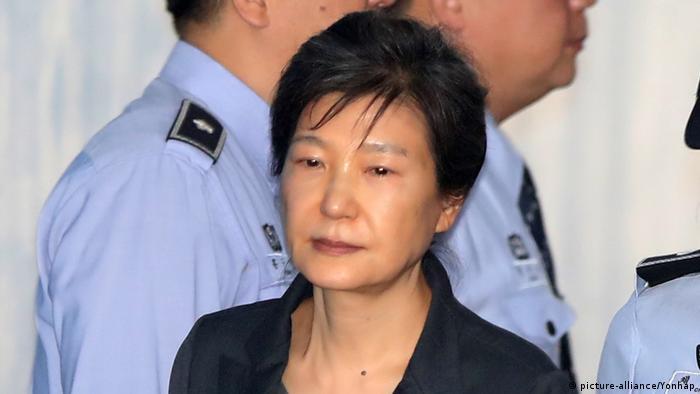 Park, de 66 anos, estava sob prisão preventiva desde março de 2017