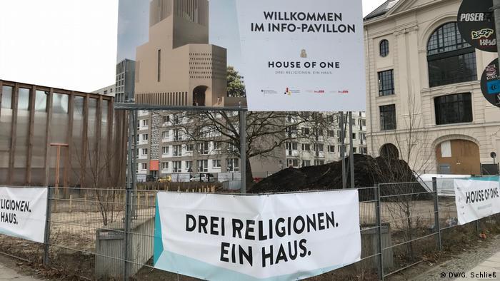 Baustelle des House for One in Berlin Mitte auf der Spree-Insel