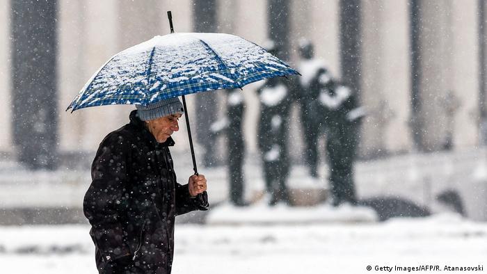 Bildergalerie Kältewelle Europa Mazedonien