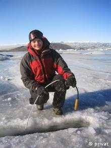 Ruth Mottram on Breidamerkurjokull Island