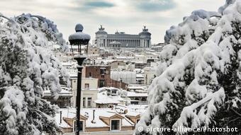 Schnee in Rom Italien