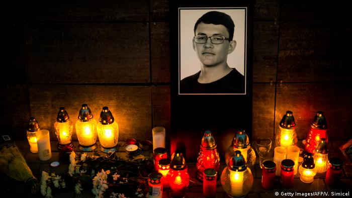 Slowakei Mord an den Journalisten Jan Kuciak Trauer (Getty Images/AFP/V. Simicel)