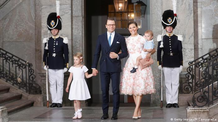 Crown Princess Victoria of Sweden, Prince Oscar, Princess Estelle and Prince Daniel of Sweden (Getty Images/M.Campanella)