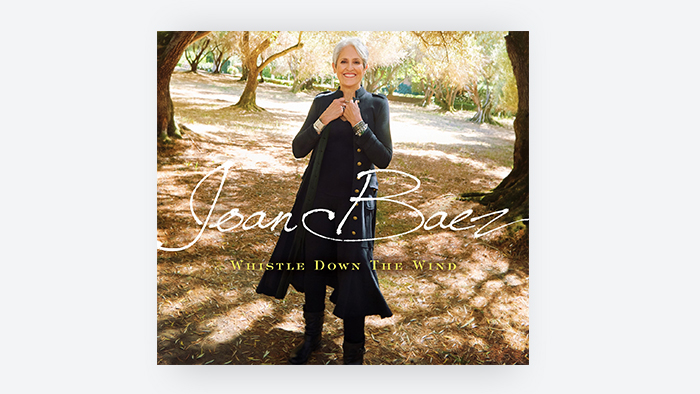 Joan Baez on her Album cover of Whistle Down the Wind