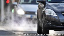 Commuters drive in their cars to work in Gelsenkirchen, Germany, Tuesday morning, Feb. 27, 2018. A German court decides today on whether to allow a ban on diesel cars in cities to lower air pollution, a move that could have drastic consequences for the country's powerful auto industry. (AP Photo/Martin Meissner)  