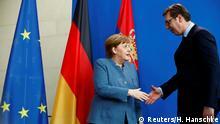 Deutschland Serbien Vucic bei Merkel