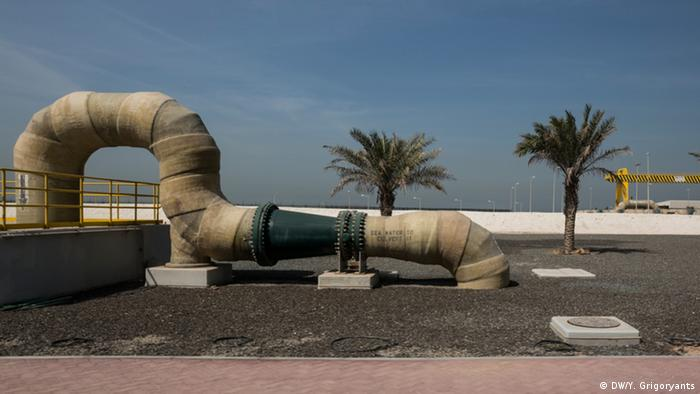 A water pipe at Jebel Ali Power Plant and desalination complex in Dubai