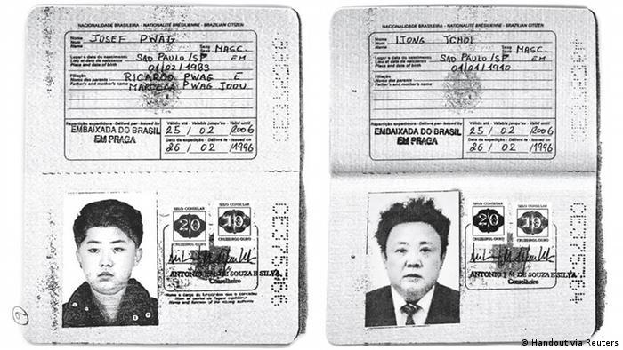 Scan des brasilianischen Passes von Kim Jong-il und Kim Jong-un (Handout via Reuters)