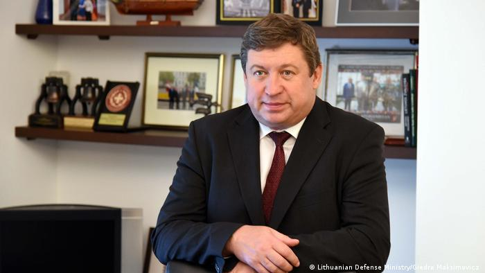 Lithuanian Defense Minister Raimundas Karoblis