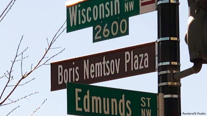 Washington changed the name of a square by the Russian Embassy to Boris Nemtsov Plaza in February
