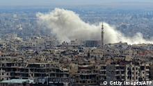 Syrien Ost-Ghouta Explosions-Wolke